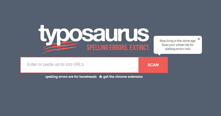 useful web developer resources - Typosaurus spell checker