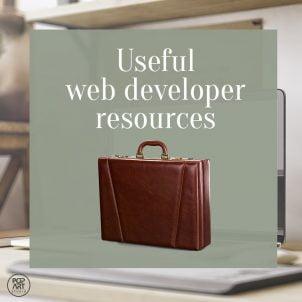 Useful web developer resources