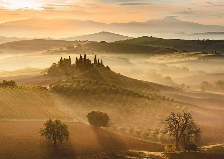 Zlatni izlazak sunca, Toskana (Italija)