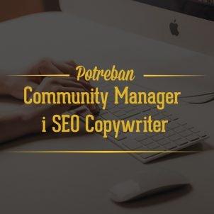 Potreban Community Manager i SEO Copywriter