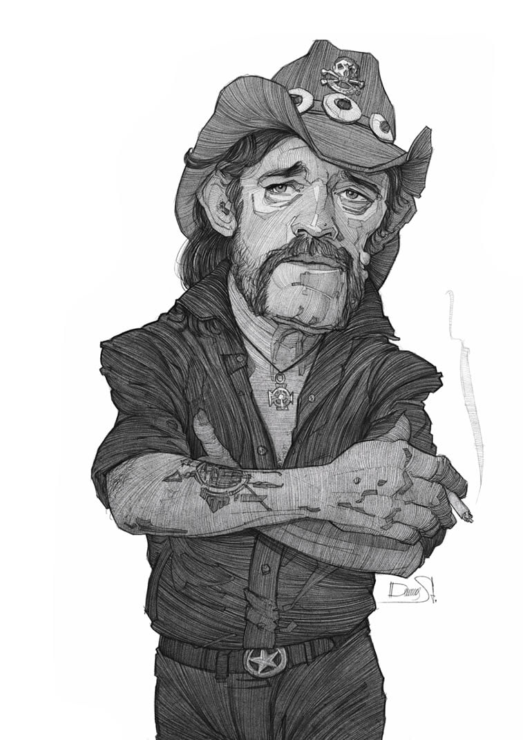 stavros damos illustration lemmy kilmister