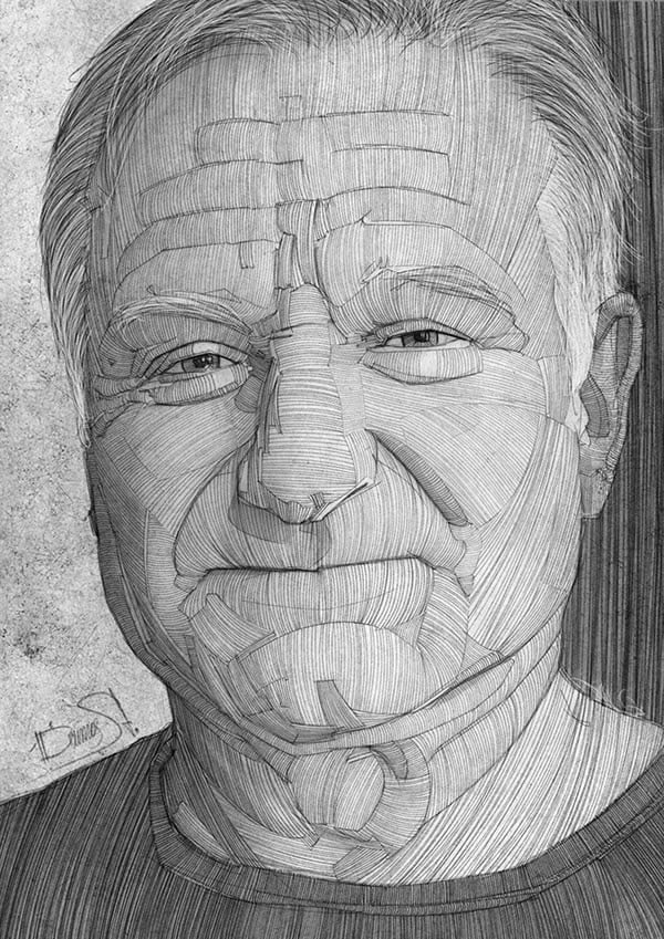 stavros damos illustration robin williams