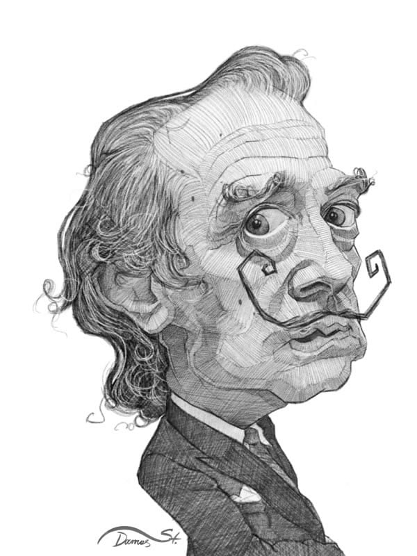 stavros damos illustration salvador dali