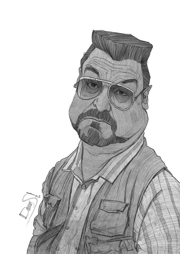 stavros damos illustration the big lebowski john goodman