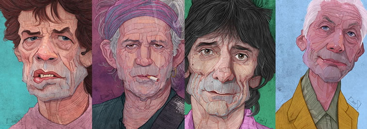 stavros damos illustration the fabulous rolling stones
