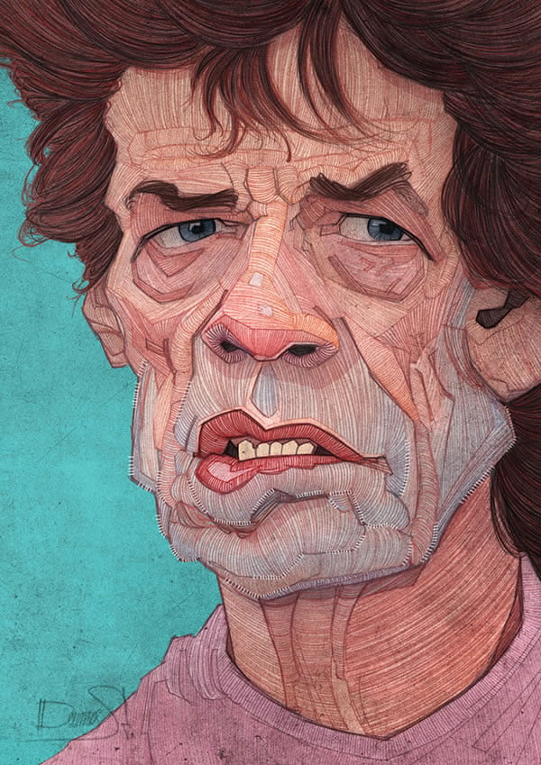 stavros damos illustration the rolling stones mick jagger