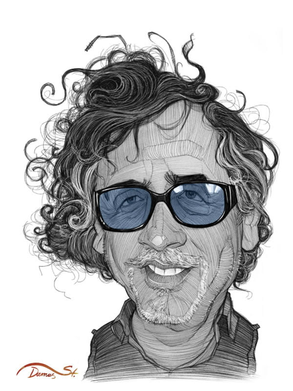 stavros damos illustration tim burton