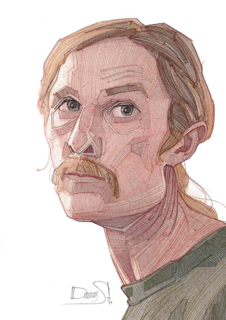 stavros damos illustration true detective detail