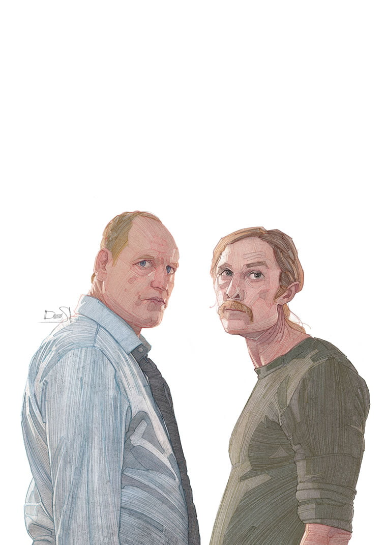 stavros damos illustration true detective