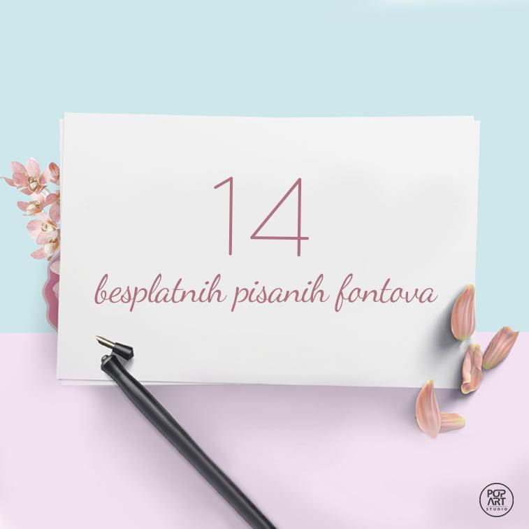 14 besplatnih pisanih fontova