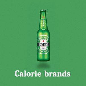Food logos with calorie count by Calorie Brands
