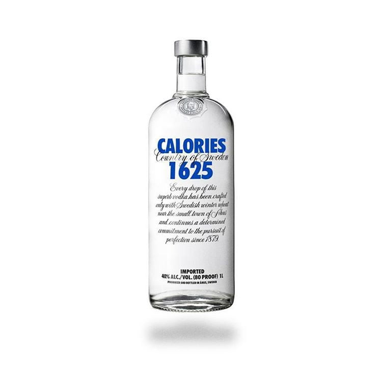 absolut vodka by calorie brands