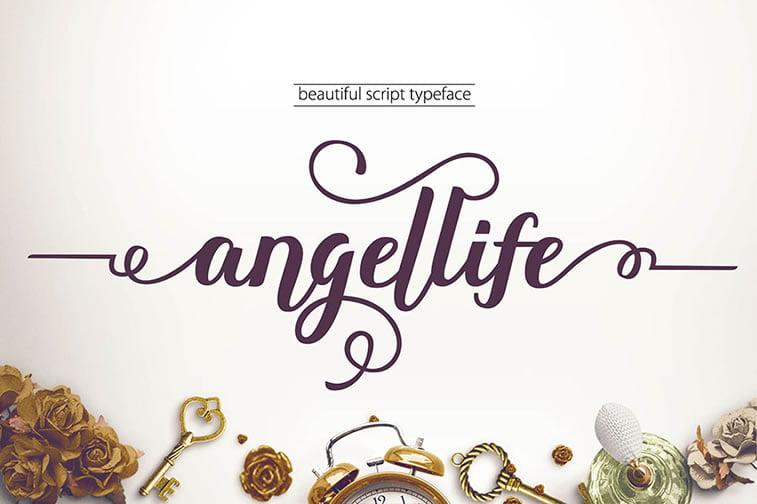 angellife skript font