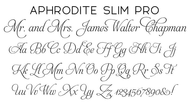aphrodite slim-pro pisani font