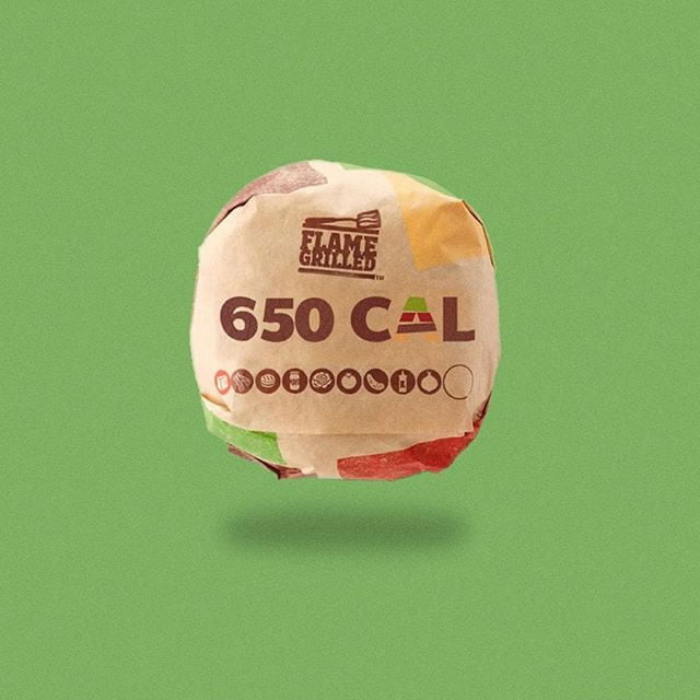 burger king hamburger by calorie brands