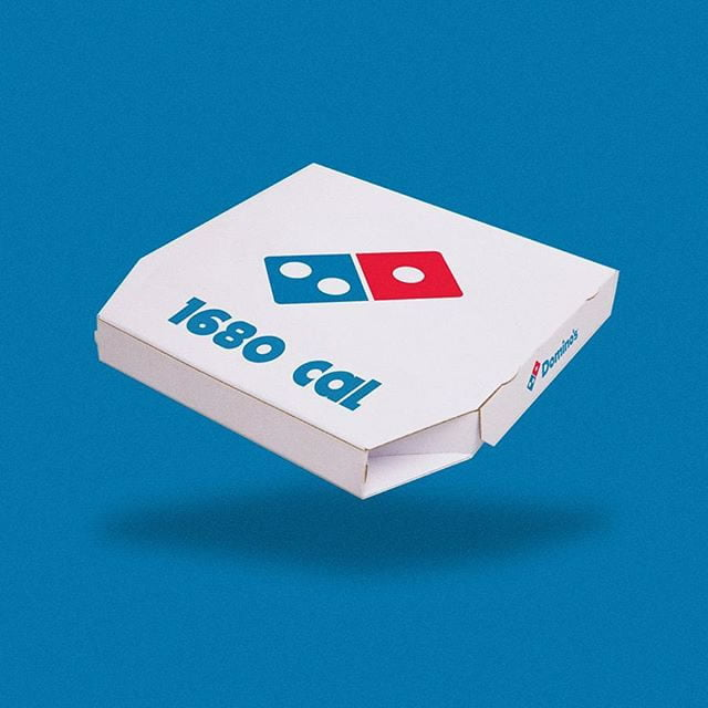 domino's pizza by calorie brands