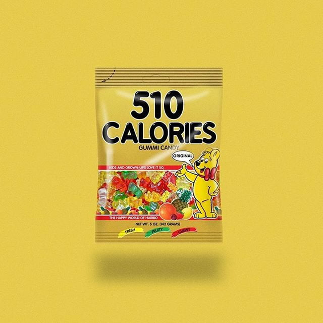 haribo gummy bears by calorie brands