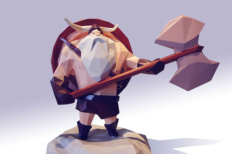 low poly brute