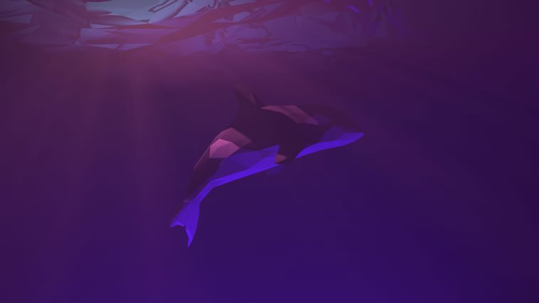 low poly orca