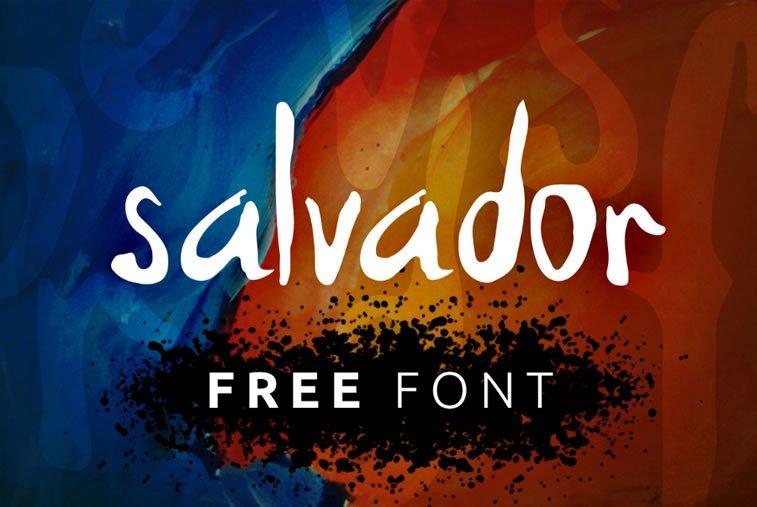 salvador script font