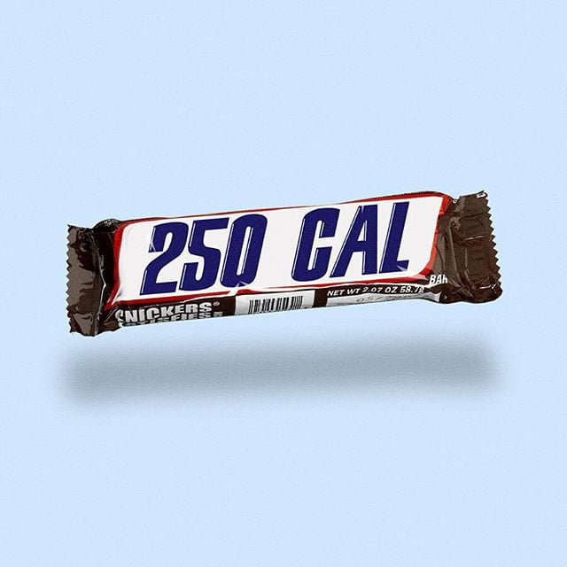 snickers by calorie brands