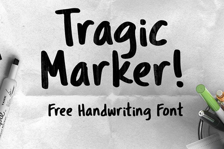 tragic marker script font