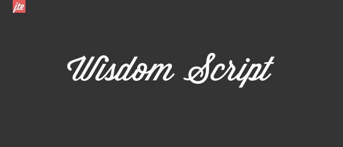 wisdom pisani font