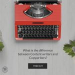 content writer vs. copywriter the difference