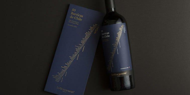 dizajn etikete za vino 50 barricas de chile
