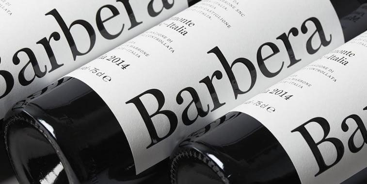 dizajn etikete za vino barbera marrone