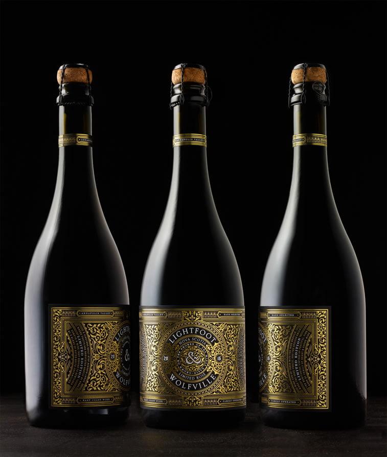 etiketa za vino grafički dizajn lightfoot wolfville
