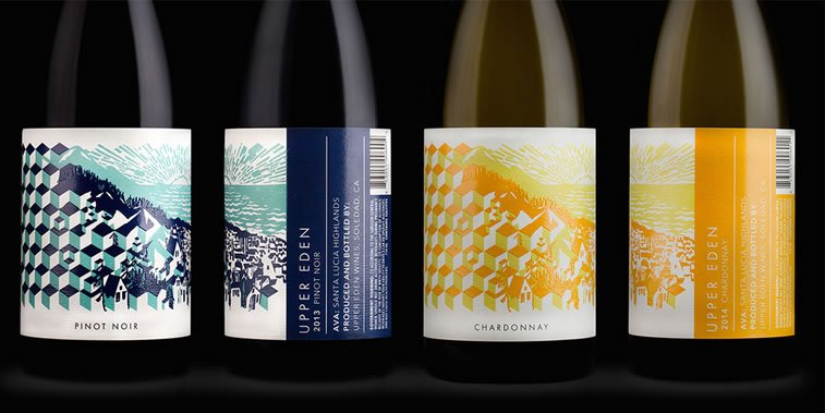 dizajn etikete za vino upper eden