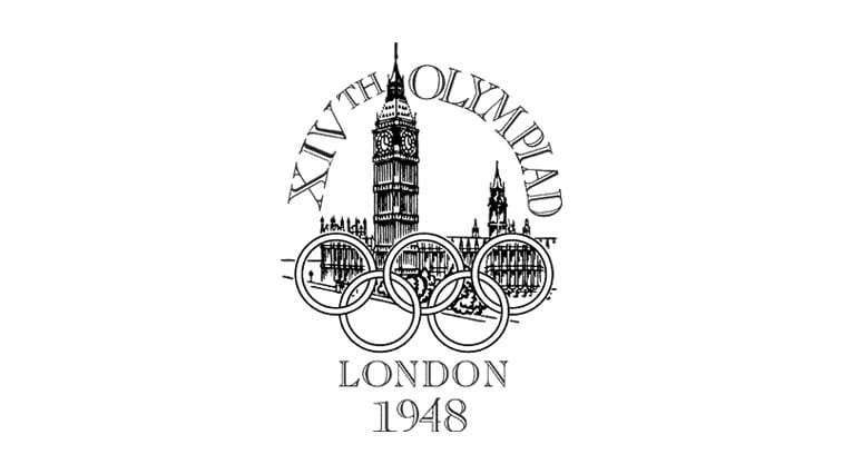 1948 london summer olympics logo