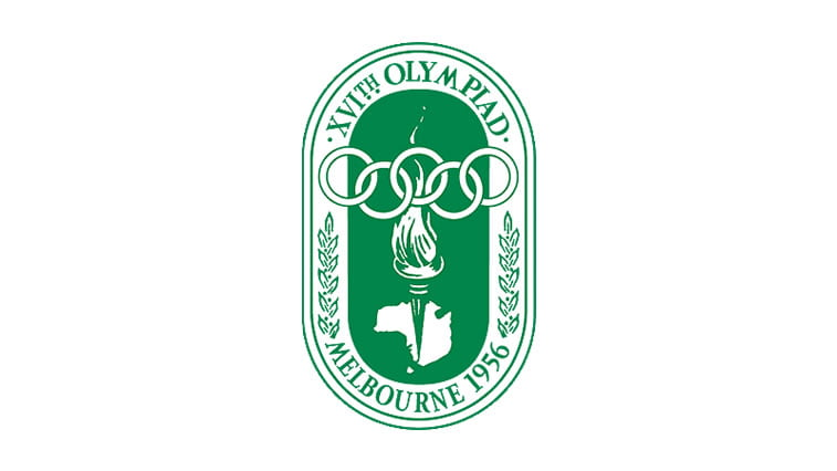 1956 melbourne summer olympics logo