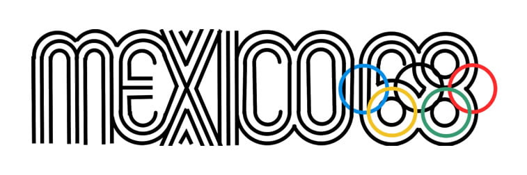 1968 mexico city summer olympic games logo