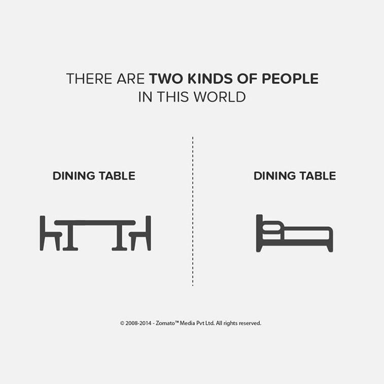 Ilustracije koje komično prikazuju podeljenost ljudi
