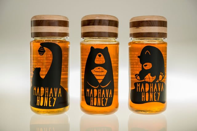 etikete za med madhava honey rebrand (1)