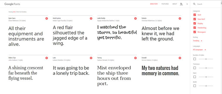 Guglovi fontovi (Google fonts)