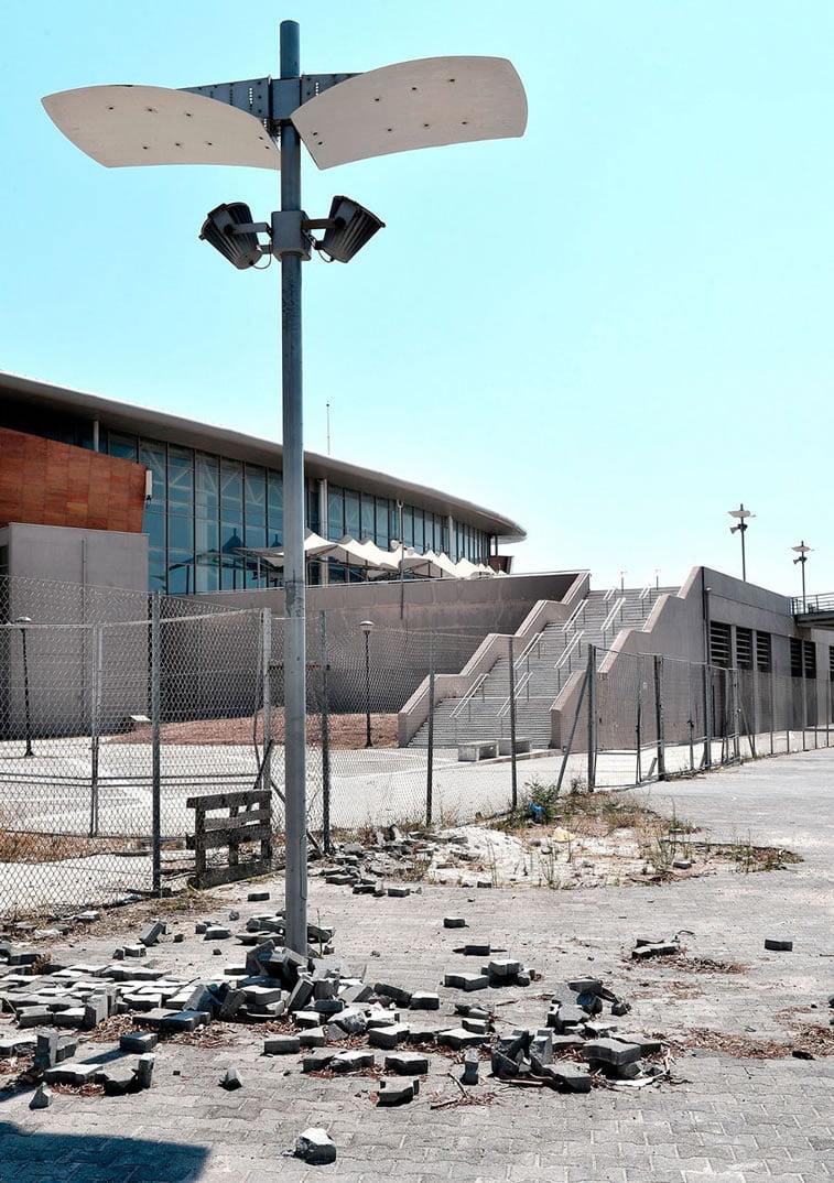 napušteno olimpijsko selo atina 2004 stadion za tekvondo