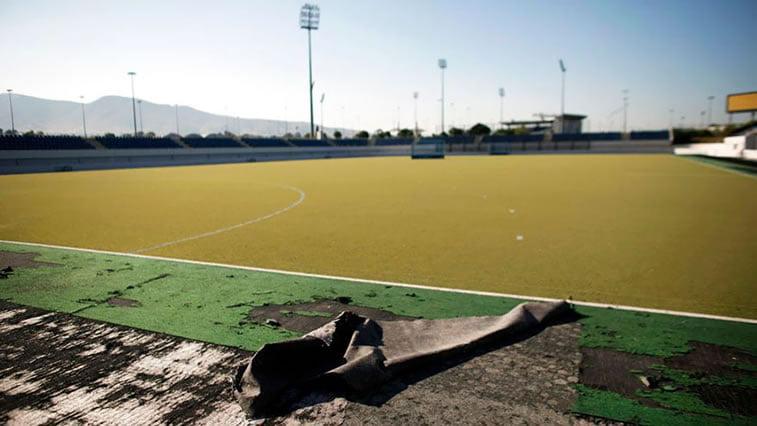 napušteno olimpijsko selo atina 2004 teren za fudbal