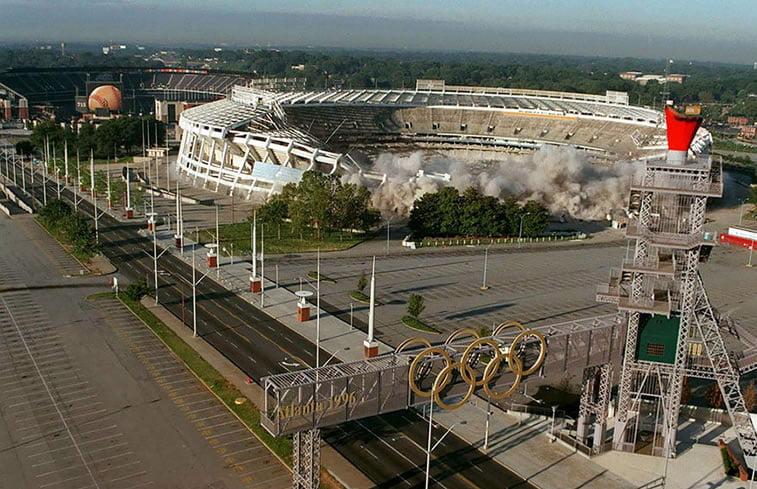 napušteno olimpijsko selo atlanta 1996 olimpijski stadion