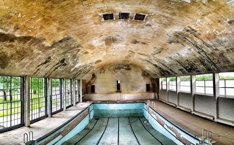 napušteno olimpijsko selo berlin 1936 bazen