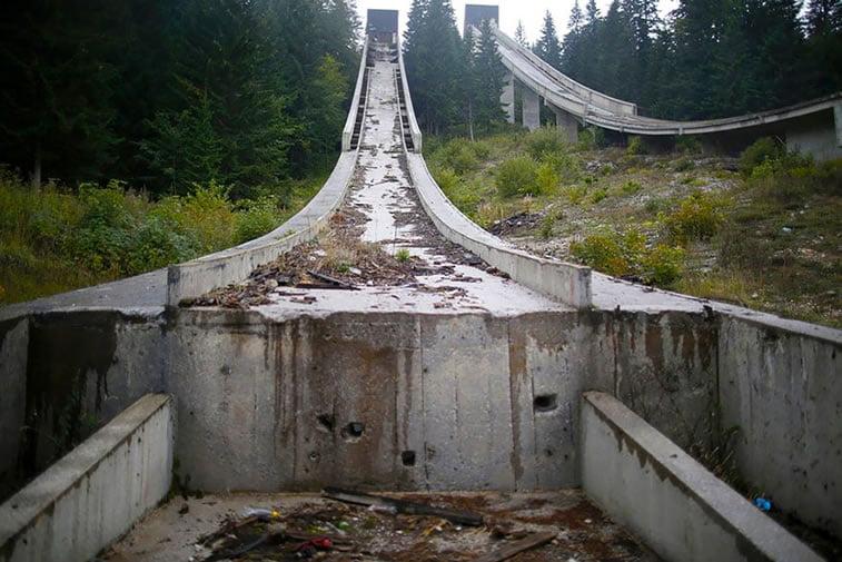 napušteno olimpijsko selo sarajevo 1984 ski spust