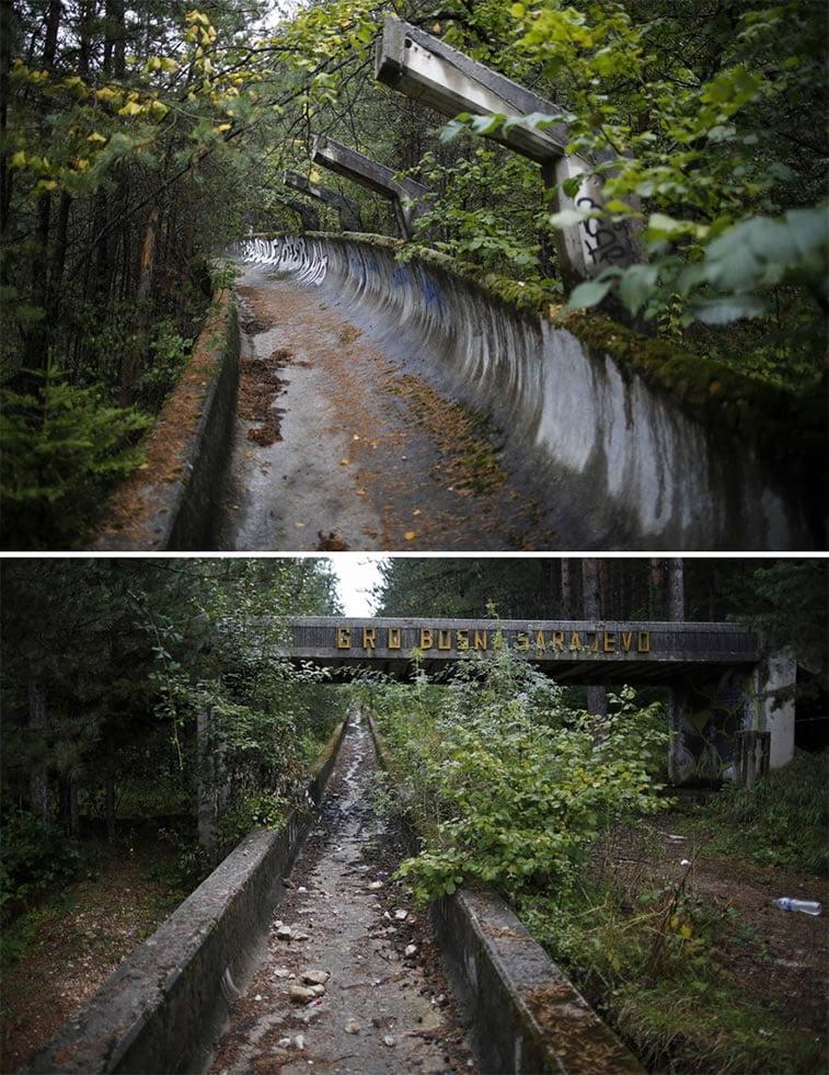 napušteno olimpijsko selo sarajevo 1984 skijalište 2