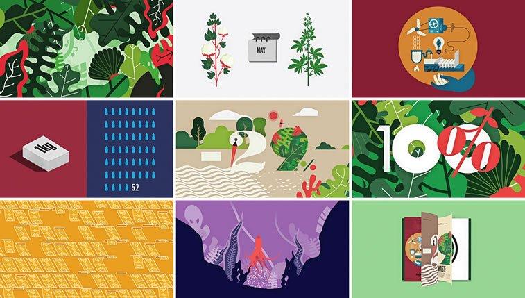 dizajn brošure sa odličnim ilustracijama inspiracija 3