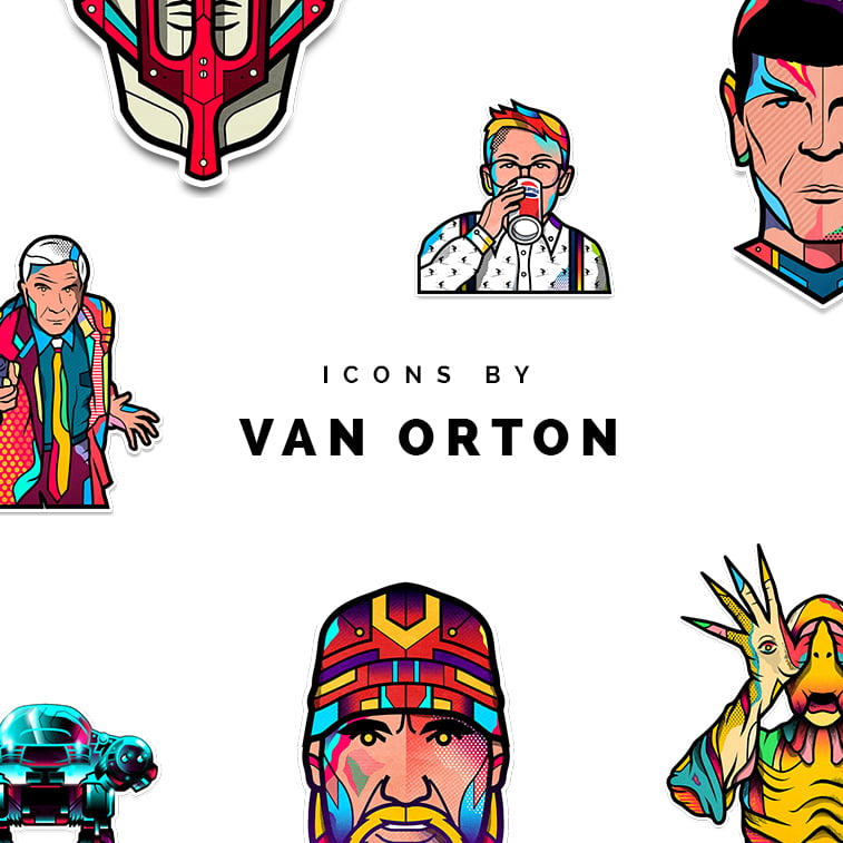 Colorful illustrations by Van Orton twins
