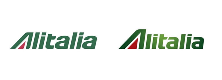 subtle and successful logo evolutions alitalia