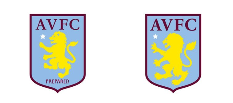 subtle and successful logo evolutions aston villa