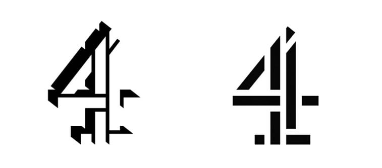 subtle and successful logo evolutions channel 4