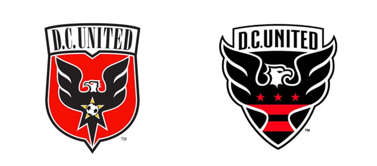 subtle and successful logo evolutions DC united